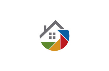 colorful house logo