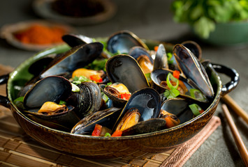 Mussels Asian Style