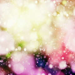 Bright color abstract design Bokeh background