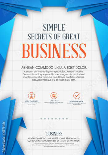Business Background Vector Template Poster Flyer Cover Design Stock Image And Royalty Free Files On Fotolia