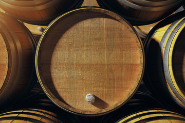 Closeup of barrel top