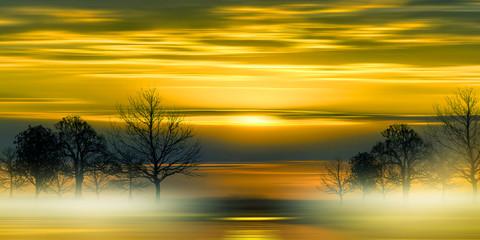 Beautiful colorful natural landscape