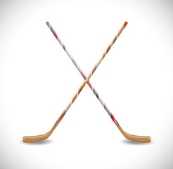 Isolated hockey sticks.  Illustration 10 version