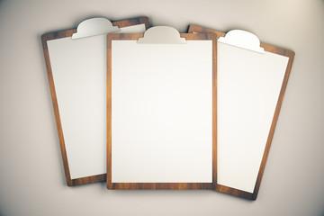 Topview of blanks on light