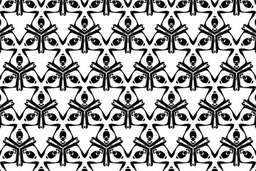 Ornament with elements of black and white colors. 8