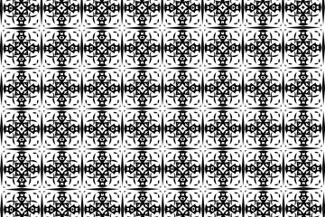 Simple patterns in black and white color. 18