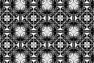 Simple patterns in black and white color. 13