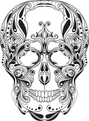 Human skull pattern