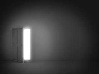 brighten light door is opening