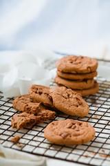 Cookies auf einen Gitter
