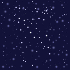 Space background, night sky and stars. Vector pattern.
