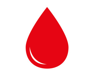 Blood drop icon. Vector illustration.
