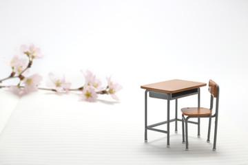 桜 学習机 ノート