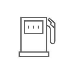 Gas station line icon.