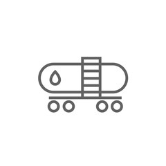 Oil tank line icon.