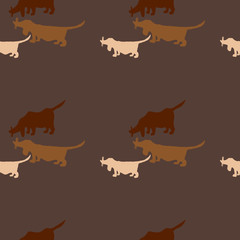 Seamless pattern with a dog