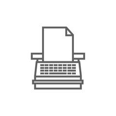 Typewriter line icon.