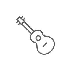 Guitar line icon.