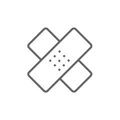 Adhesive bandages line icon.
