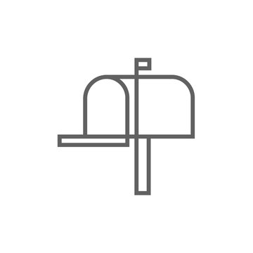 Mail box line icon.