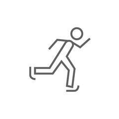 Speed skating line icon.
