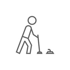 Curling line icon.