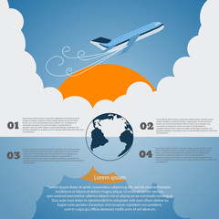 Travel infographics vector eps 10 illustration