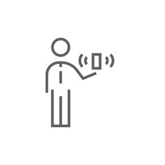 Mobility line icon.