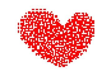 Love heart art