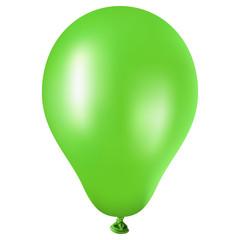Großer grüner Ballon auf weißem Hintergrund