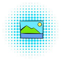 Web picture icon, comics style