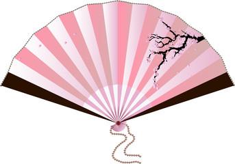Fan with sakura