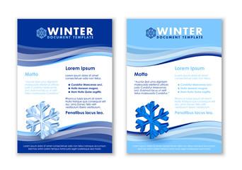 Winter document templates