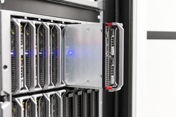 Blade server rack in large enterprise datacenter