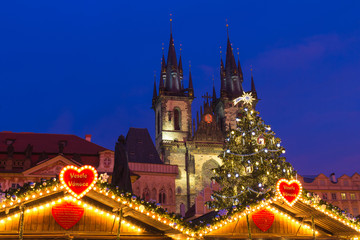 Xmass markets in Prague, Oldtown Square, Czech Republic
