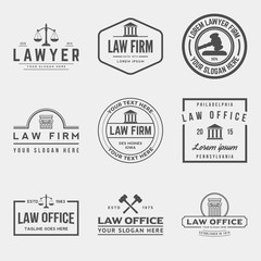 set of law office logos