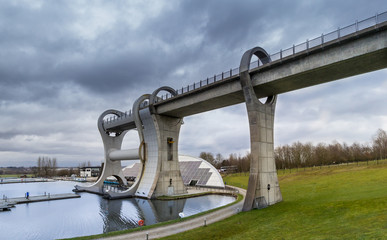 The Falkirk Wheel (the world's only rotating boat lift)