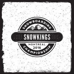 snowboarding emblem. logotype template