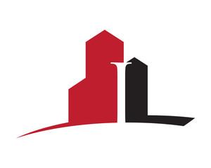 I building letter logo