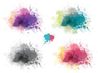 Vector multicolor splashing  blots backgrounds.