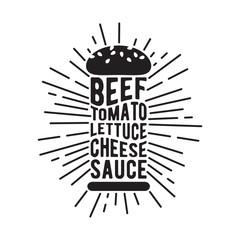 Black and white burger icon.
