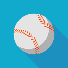 baseball ball icon with long shadow