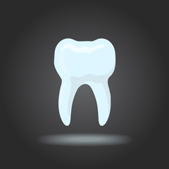 Vector tooth silhouette.  Icon dental, healthy tooth, dentist office logo