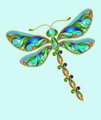 Decorative dragonfly