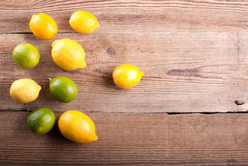 lemons on the old table
