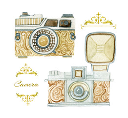Camera in retro style