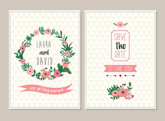 Save the date wedding invitation cards collection