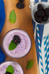 Blackberry Smoothie. Selective focus.