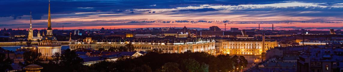 Night Saint Petersburg panoramic view