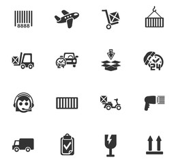 delivery service icon set